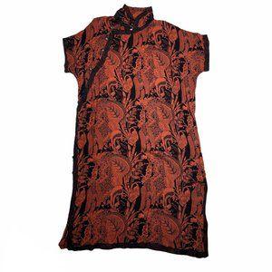 Antthony Originals Shirt Dress Floral Mandarin